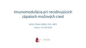 Raffáč - Imunomodulácia pri recidivujúcich zápaloch močových ciest